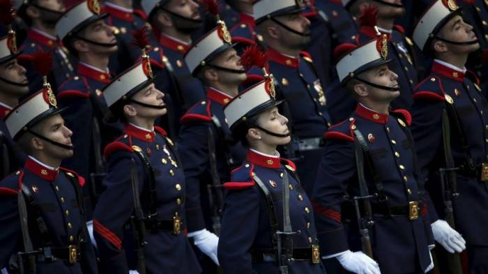 Spanish army dresses female recruits in trousers to hide visible tattoos