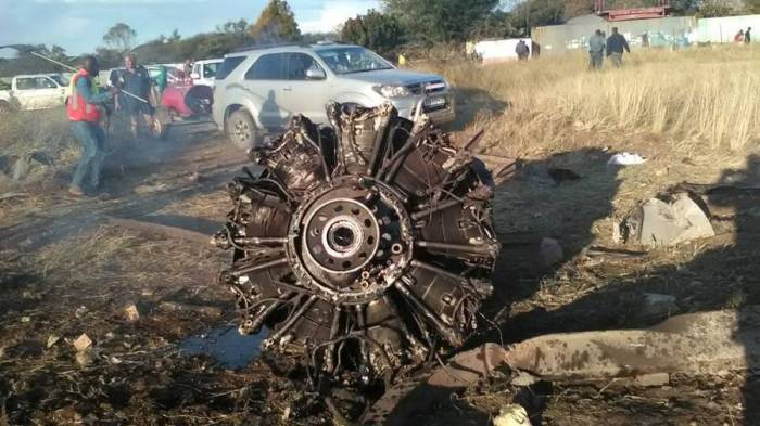 South African plane crash shown from cabin in horrifying - VIDEO