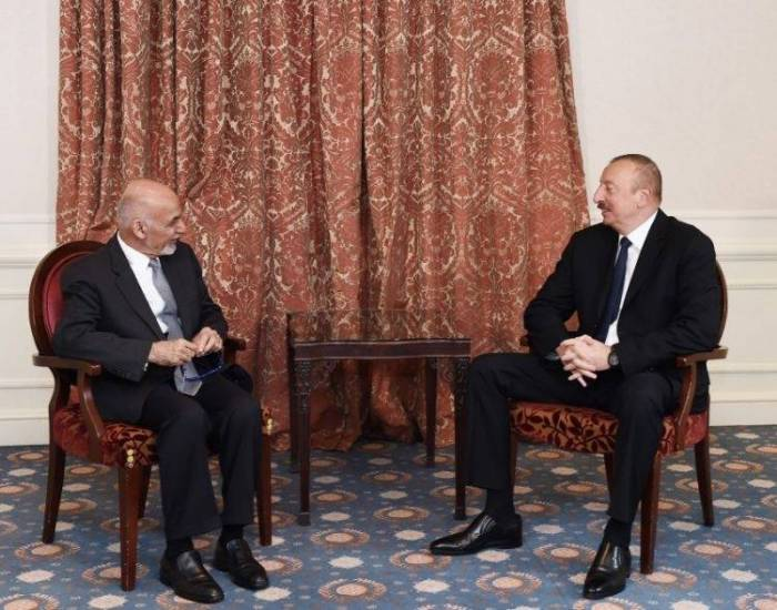Azerbaijani, Afghan presidents meet in Brussels