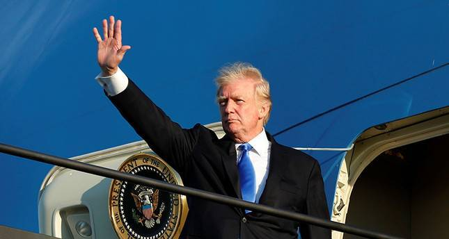 Trump departs for Europe for meetings with foreign leaders