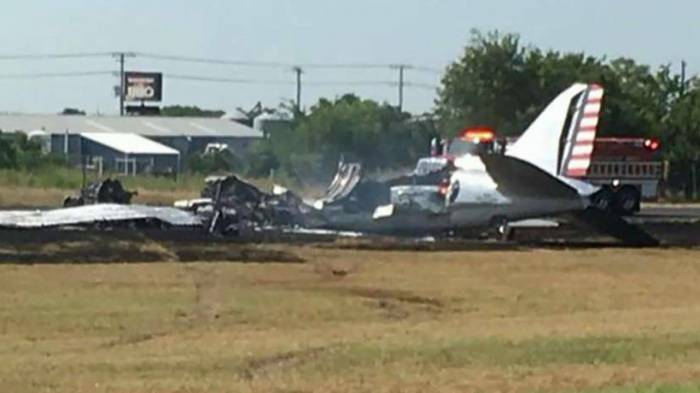 Historic plane crashes at Texas airport; 13 passengers onboard survive