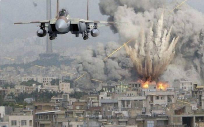 İsrail Suriyanı bombaladı - (VİDEO)