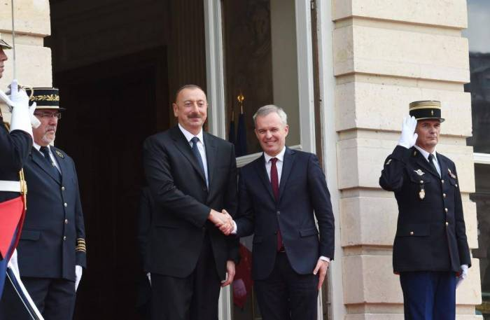 Ilham Aliyev meets president of French National Assembly - PHOTOS