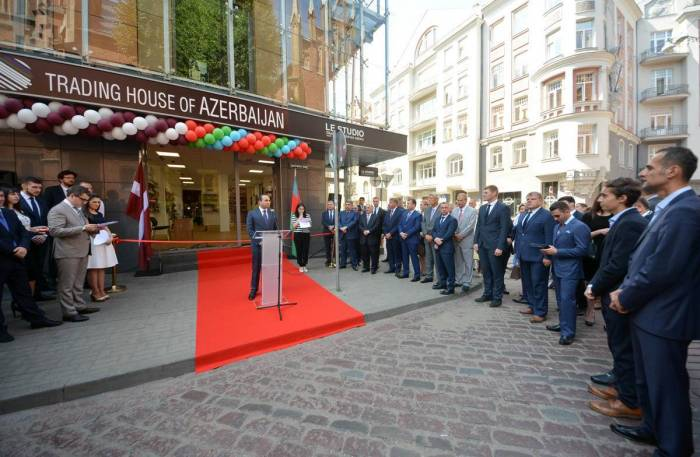 Azerbaijan's trade house opens in Latvia