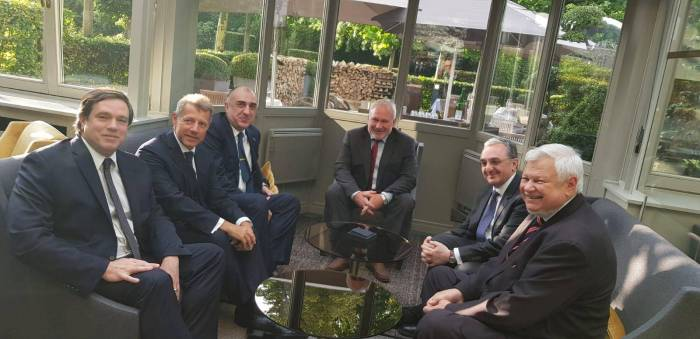 Azerbaijani, Armenian FMs meet in Brussels