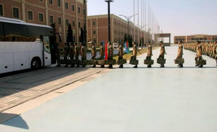 Group of Azerbaijani peacekeepers leave for Afghanistan