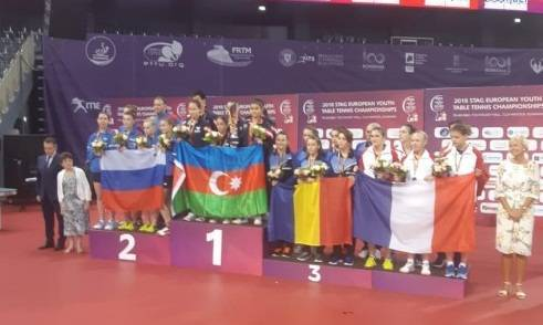 Azerbaijan`s female table tennis team win European Youth Championships