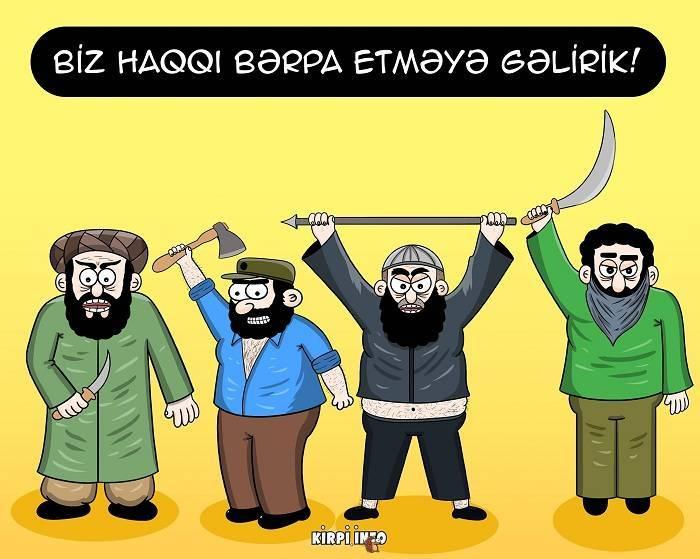 Üstümüzə qalxan qılınc və hicablı terror – KARİKATURALAR