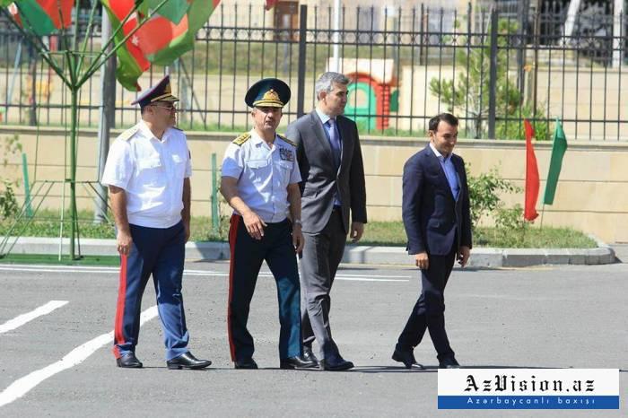 """Dövlət rəsmiləri generallarla """"Hərbiyyə"""" düşərgəsində - FOTOLAR"""