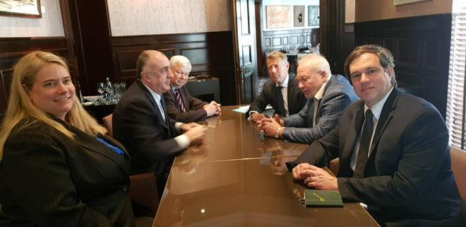 Azerbaijani FM meets with OSCE MG co-chairs