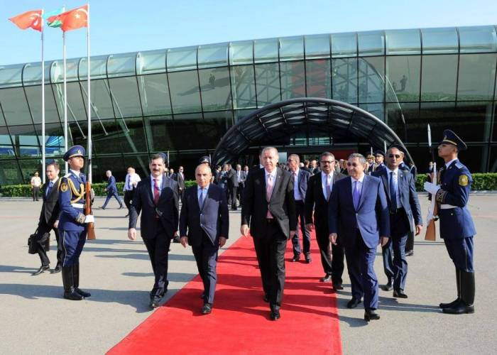 President Erdogan ends his visit to Azerbaijan