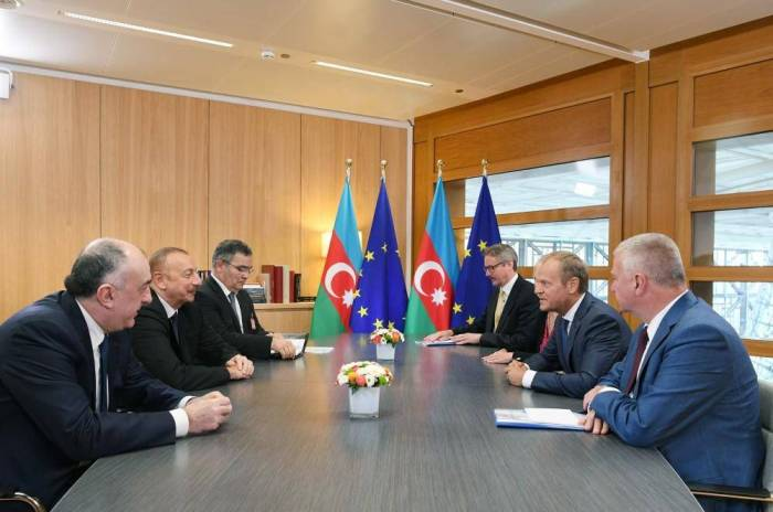 President Aliyev meets European Council president in Brussels - PHOTOS