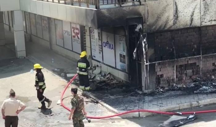 """""""Riyad""""dakı yanğında 2 nəfər xəsarət alıb - VİDEO"""