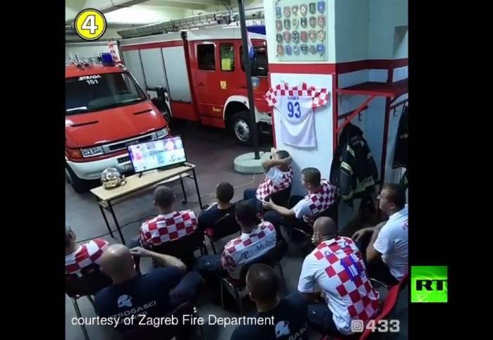 شاهد.. سرعة ومهنية رجال الإطفاء الكرواتيين