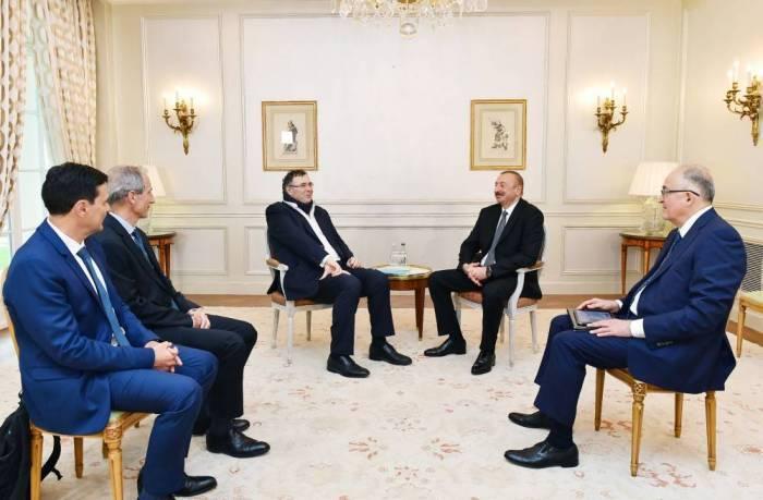 Ilham Aliyeva rencontré le président de Total