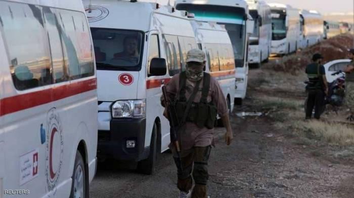 الإخبارية السورية: استكمال إجلاء سكان كفريا والفوعة