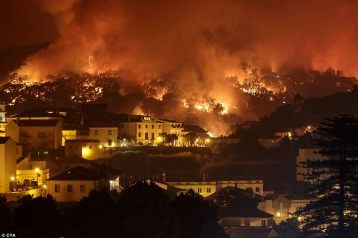 More than 1,100 firefighters mobilise to tackle wildfires in Portugal
