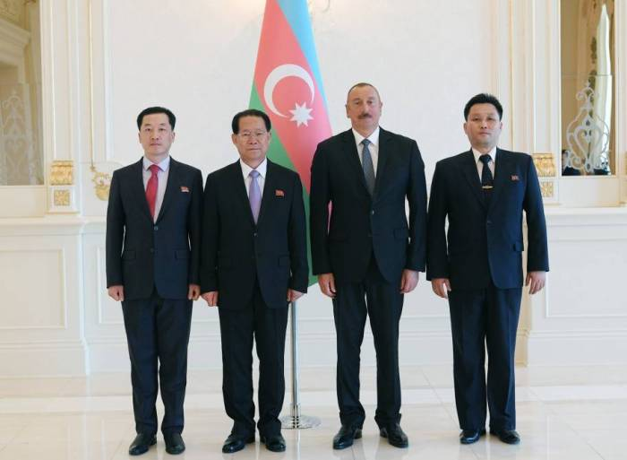 President Ilham Aliyev received credentials of incoming ambassadors