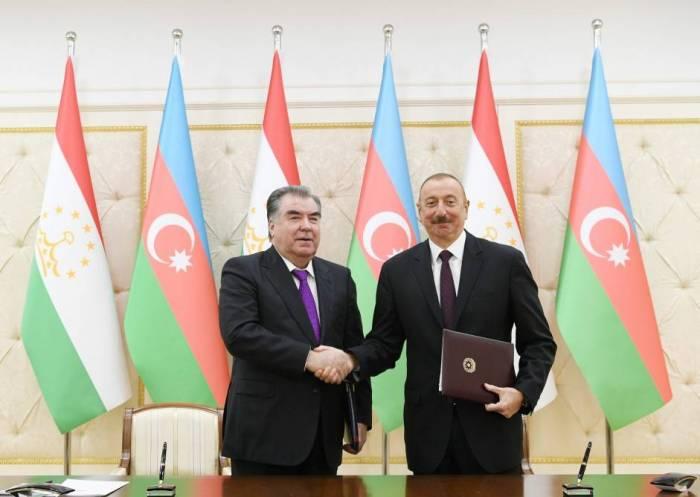 Azərbaycan-Tacikistan sənədləri imzalanıb - Yenilənib (FOTOLAR)