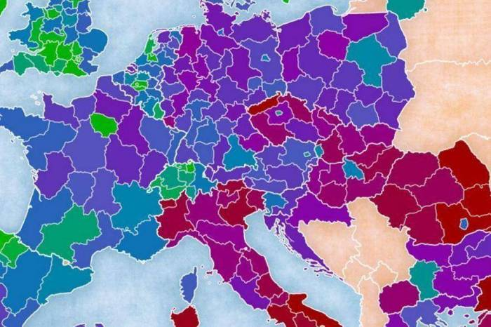 This map shows the most educated places in Europe