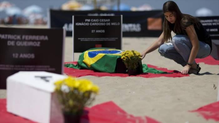 Brasil bate récord de violencia: 175 homicidios por día