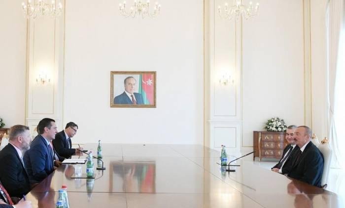 President Ilham Aliyev receives US Congress delegation