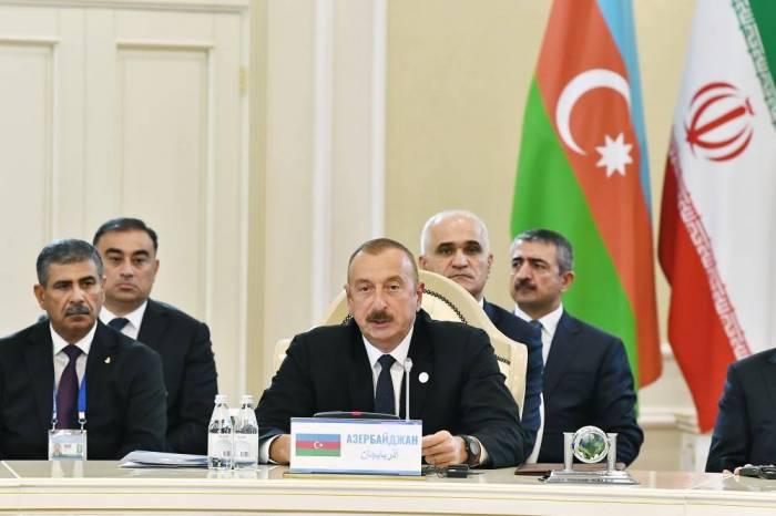 Prezident Aktau sammitində - FOTOLAR (Yenilənib)