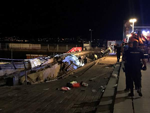 More than 250 injured after pier collapses at Spanish music festival