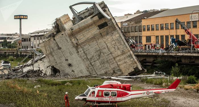 La fiscalía italiana revela la causa de colapso de viaducto en Génova