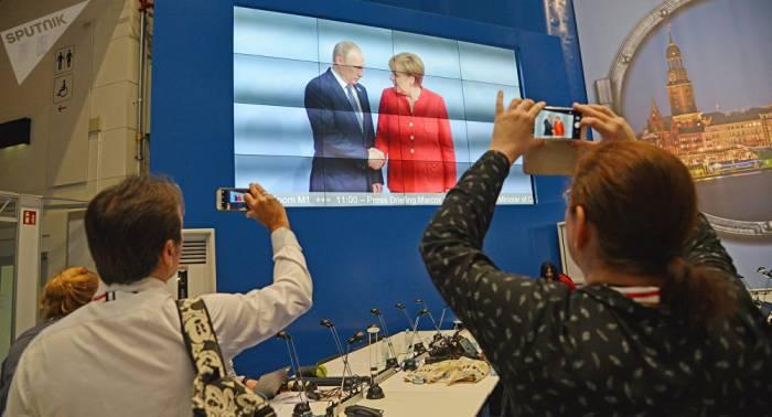 Merkel und Putin in Berlin: Themen von gegenseitigem Interesse