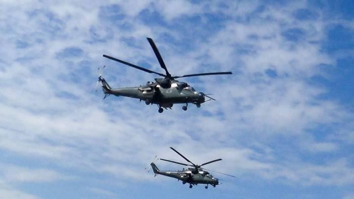 Les hélicoptères de l'Armée de l'air d'Azerbaïdjan ont effectué des exercices de tir