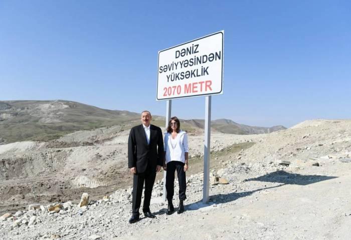 İlham Əliyev Lahıc yolunun açılışını etdi - FOTO