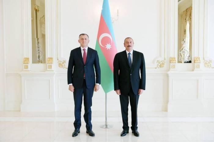 Prezident Gürcüstanın yeni səfirini qəbul edib - Yenilənib (FOTOLAR)