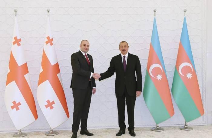 Prezident Gürcüstanın Baş naziri ilə görüşüb - FOTOLAR