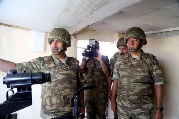 Azerbaijani defense minister visits frontline zone military units