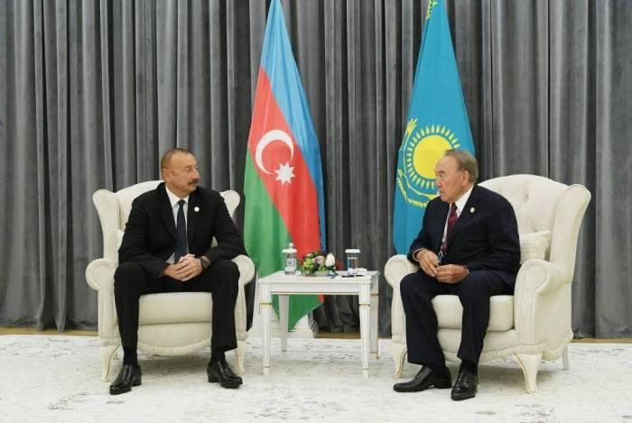 Ilham Aliyev met with Kazakh and Iranian presidents