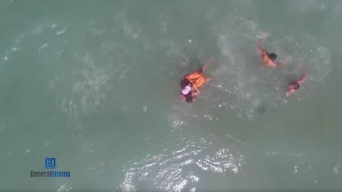 VIDEO: Un dron rescata a una mujer que se ahogaba en una playa de España