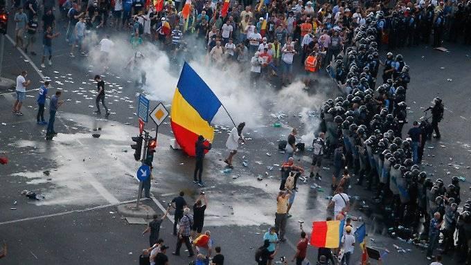 Rumänien erlebt weitere Protestnacht
