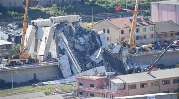 إيطاليا: 42 قتيلاً حصيلة انهيار الجسر