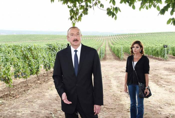 President Aliyev visits Shamakhi district and attends several openings -UPDATED