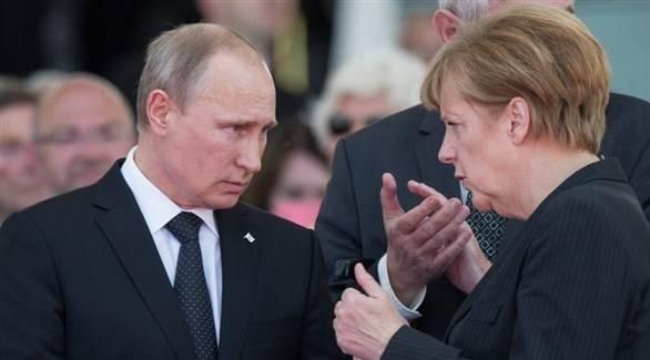 ميركل وبوتين يجريان محادثات حول سوريا وأوكرانيا