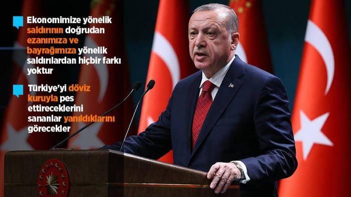 """""""Türkiyəni diz çökdürmək istəyirlər"""" - Ərdoğan"""