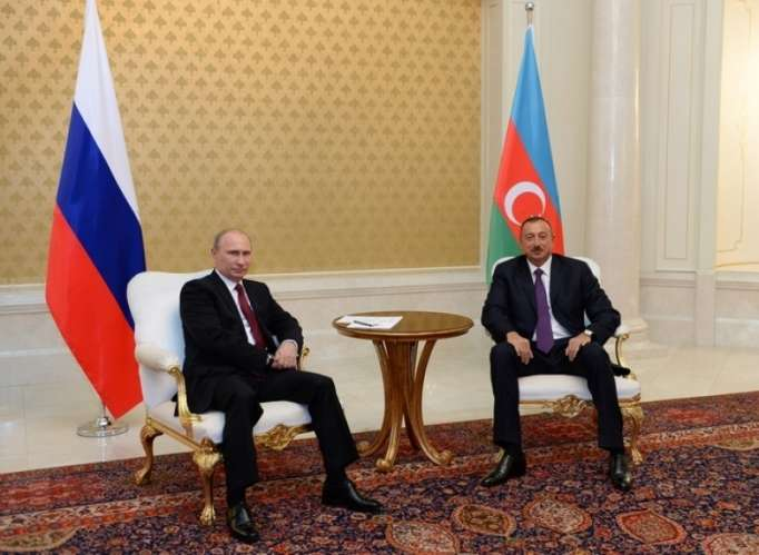 President Aliyev and Russian president Putin held one-to-one meeting