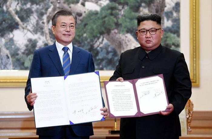 """İki Koreya dövlətinin """"birləşməsi"""" yolunda mühüm addım"""