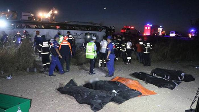 Six killed, 39 injured in bus accident in Turkey