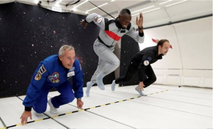 Usain Bolt sprintet allen davon – auch ohne Gravitation