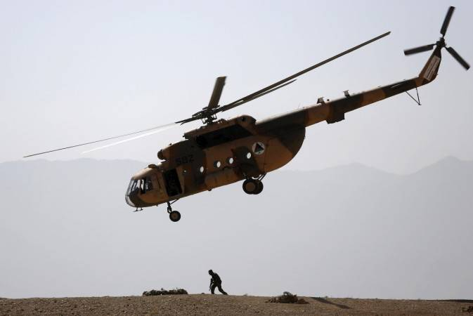 Afghan military helicopter crash kills all five aboard
