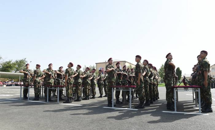 Ilham Aliyev attends oath-taking ceremony for young soldiers - PHOTOS