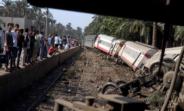 Train derails in Egypt leaving 12 people injured