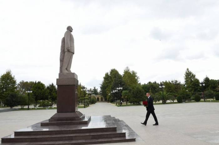 Ilham Aliyev est en visiteà Massally - PHOTOS